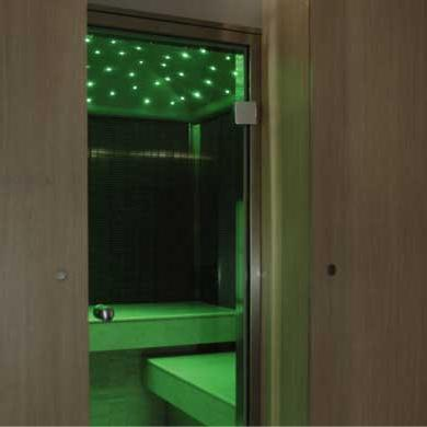 starpool raxul spa cabin chromatherapy green Spa Cabin from Starpool   luxury spa cabins for your home