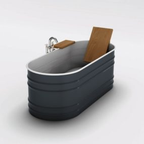 Steel Tub from Agape – new Vieques VAS911 has a rustic appeal