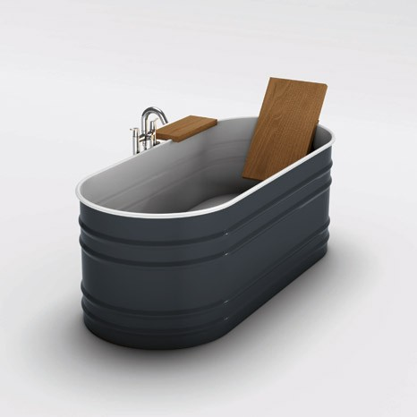 Steel Tub from Agape new Vieques VAS911 has a rustic appeal