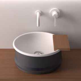 Steel Wash Basin by Agape – new Vieques