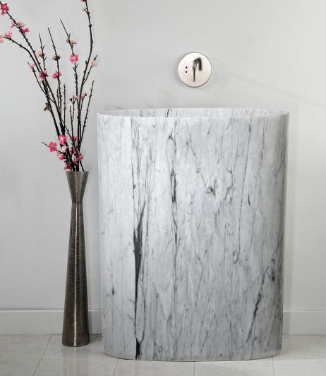 stone forest infiniti pedestal Stone Forest New Papillion Bathtub and Infiniti Pedestal