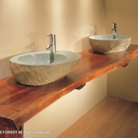 Wood Countertop beauty – Natural Edge Countertops from Stone Forest