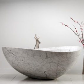 Stone Forest New Papillion Bathtub and Infiniti Pedestal