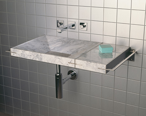 stone forest sync system single sink Modern Natural Stone Sink from Stone Forest   new Sync system with futuristic grill drains