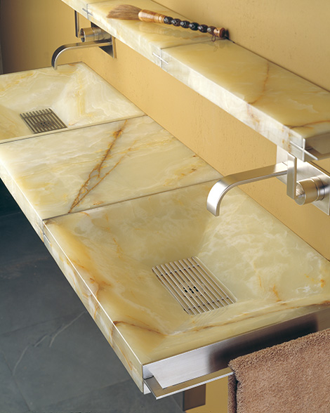 stone forest sync system Modern Natural Stone Sink from Stone Forest   new Sync system with futuristic grill drains