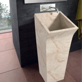 Floor Standing Washbasin in Stone by Bathco
