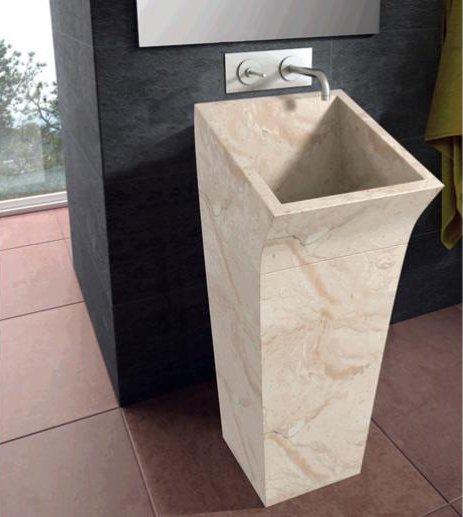 stone washbasin lungo bathco 1 Floor Standing Washbasin in Stone by Bathco