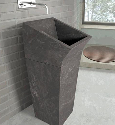 stone washbasin lungo bathco 2 Floor Standing Washbasin in Stone by Bathco