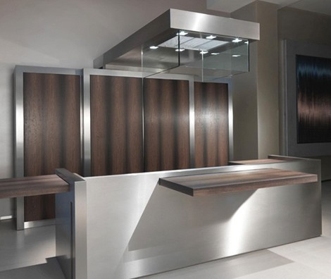 stratocucine kitchen strato 031 4 Contemporary Kitchen by Strato   Sliding Island Top and Movable Storage Wall!