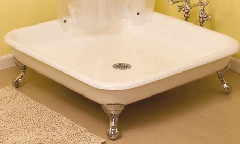 strom plumbing claw foot shower Claw foot Shower Pan by Strom Plumbing