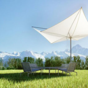 Architectural Sunshade by StructureLab – new umbrella Exzentro