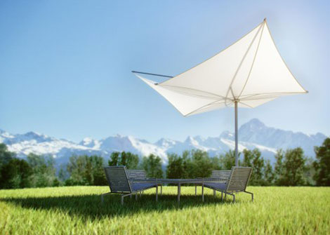 structurelab exzentro umbrella s1 Architectural Sunshade by StructureLab   new umbrella Exzentro