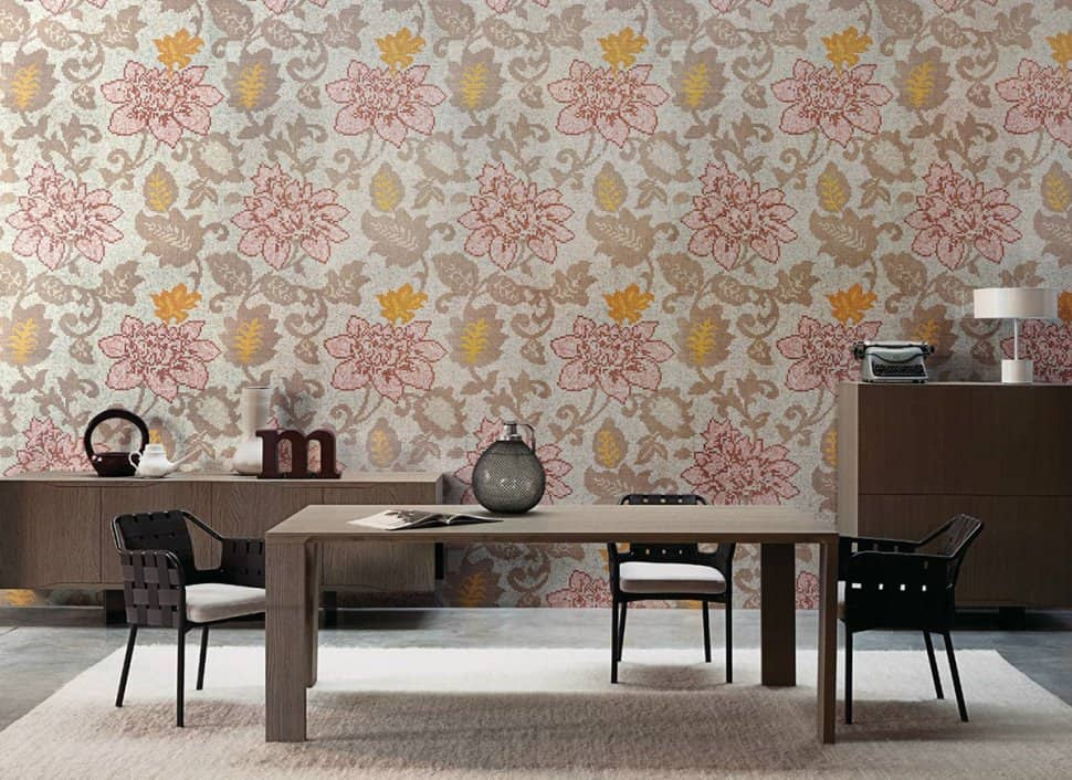 Stunning Floral Patterned Mosaic Tiles From Bisazza