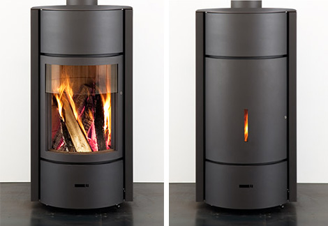 stuv stove stuv 30 in use Contemporary Wood Burning Stoves by Stuv   3 position turning door rocks!