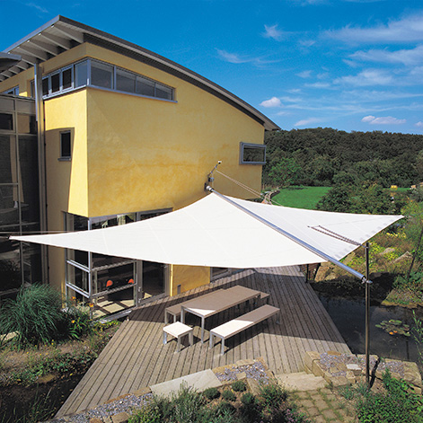 sun square sun rain protection Retractable Awning from SunSquare   electric canopy with automatic wind sensor