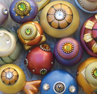 Decorative Cabinet Knobs by Susan Goldstick Inc