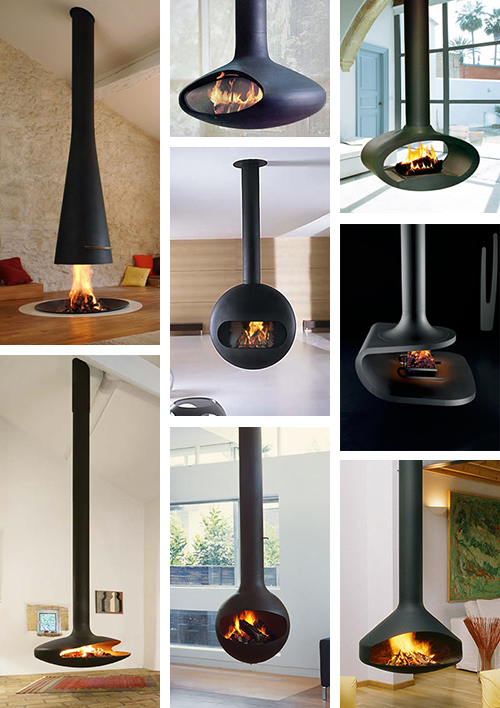 suspended fireplace hot new trend Suspended Fireplace   hot new trend