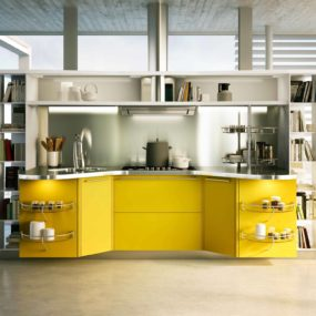 Suspended Kitchen Skyline 2.0 by Snaidero