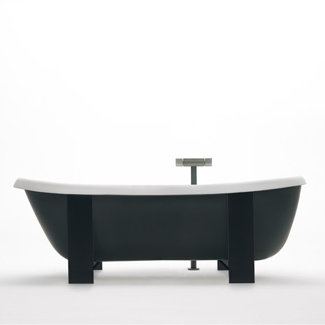 suspended tub agape pear cut black Suspended Tub from Agape   new Pear Cut VAS914