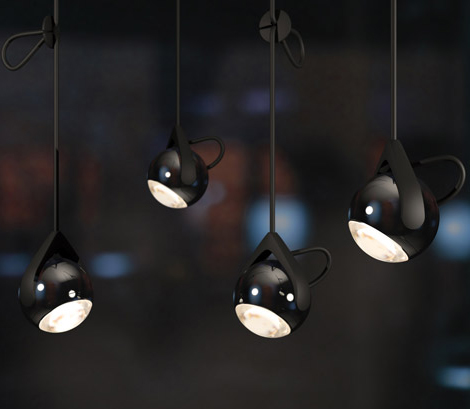 Suspension lamps by tobias grau falling star for Suspension 2 lampes