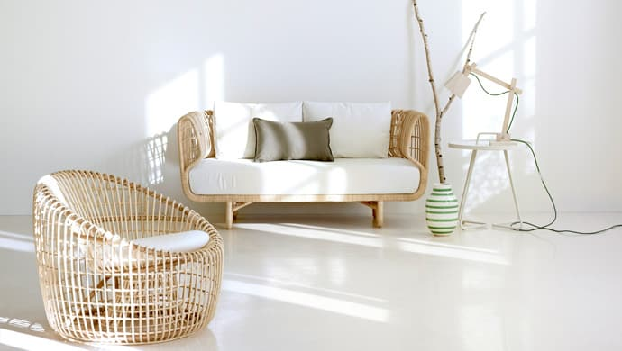 View In Gallery Sustainable Rattan Indoor Furniture By Cane Line 1.