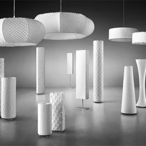 Textured Lighting Fixtures by Suzusan-Shibori