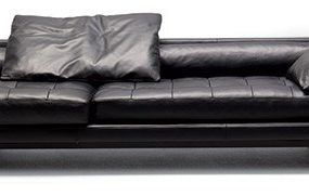 Extra-large Leather Sofa Plaza from Swan by designers Ludovica and Roberto Palomba
