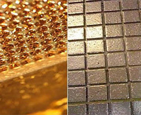 Swarovski Crystal and Gold Flooring – polish up your concept of luxury
