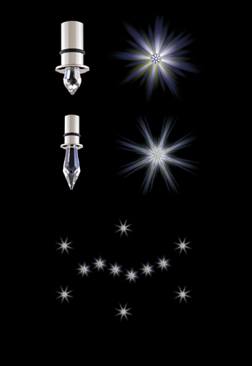 swarovski starled spirit 24 stars Swarovski Crystal LED Lighting   Recessed LED Spots & Crystal Star LED illumination system