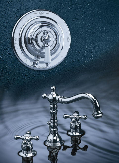 New bathroom faucets from Symmons - the Carrington Suite