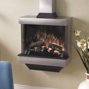 Wall Mounted Fireplace – Symphony Stainless Steel Fireplace by Dimplex