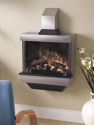 symphony stainless steel fireplace Wall Mounted Fireplace   Symphony Stainless Steel Fireplace by Dimplex
