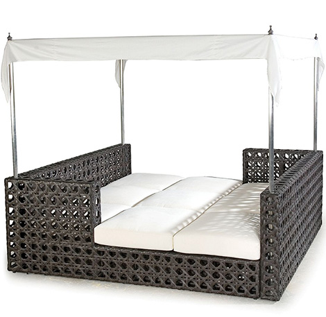 synthetic wicker outdoor furniture laneventure island bed Synthetic Wicker Outdoor Furniture by Laneventure