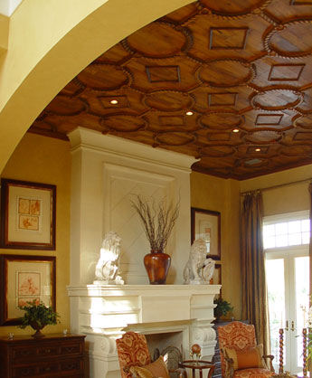 taracea custom ceiling Architectural Woodwork by Taracea Custom   Old World style for high end wood design