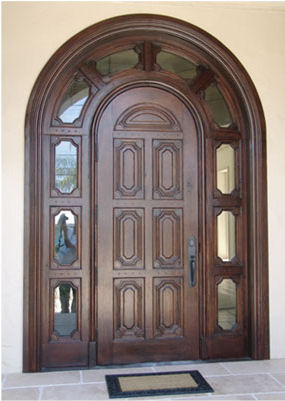 taracea custom mission entrance doors Architectural Woodwork by Taracea Custom   Old World style for high end wood design