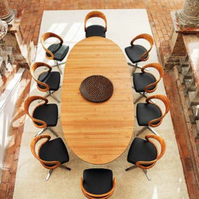 Contemporary dining furniture by Team 7 – the Girado dining set