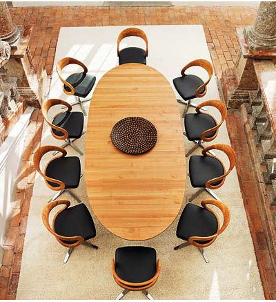 team 7 dining furniture girado Contemporary dining furniture by Team 7   the Girado dining set