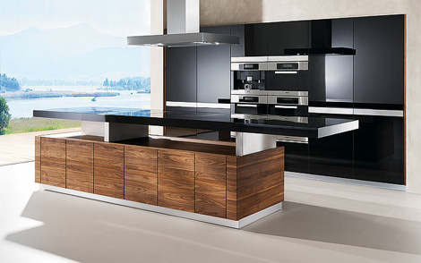 team 7 kitchen k 7 2 K7 Kitchen by Team 7   automated kitchen island with height adjustable worktop & more