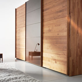 Solid Wood Wardrobe by Team 7 – Valore sliding door wardrobes are 'green'