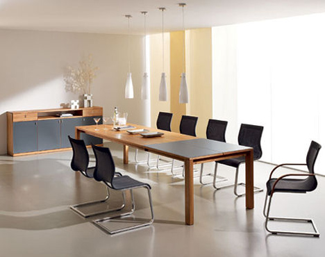 Extension dining room table from Team 7 - the Magnum modern dining ...