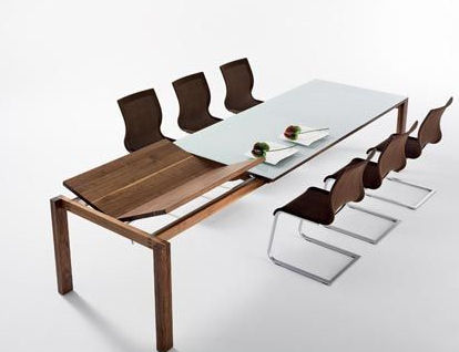 team7 magnum extension dining table Extension dining room table from Team 7   the Magnum modern dining table