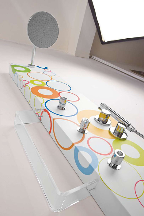 teda custom graphic shower wow 1 Custom Graphic Shower Panels by TEDA   Why Only White (WOW) collection