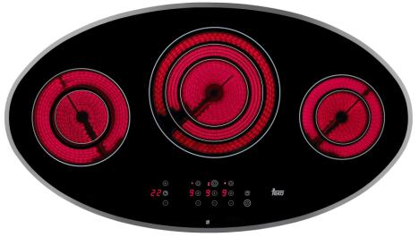 teka vitroceramic hob Teka vitroceramic cooktop   the shape designed hob