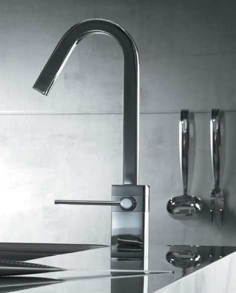 teknobili cube kitchen faucet Contemporary Faucets from Teknobili   Cube faucets
