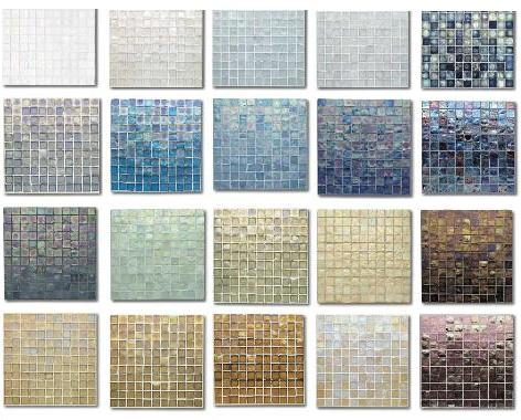 tessera tile colors Oceanside Glasstiles Tessera Glass Tile   the Iridescent Beauty!