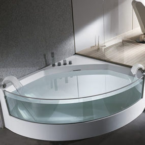 Clear sided Bathtub from Teuco: gorgeous View whirlpool bathtubs with glass panels