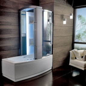 New Teuco Hydrosonic hydroshower – Sharade, a bathtub and shower combination unit