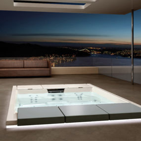 Outdoor Recessed Bathtub from Teuco – new Hydrospa Seaside 640