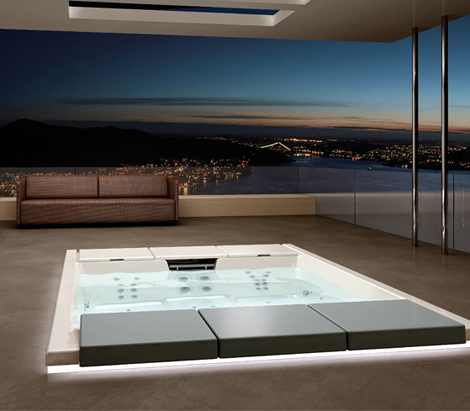teuco hydrospa seaside 640 3 Outdoor Recessed Bathtub from Teuco   new Hydrospa Seaside 640