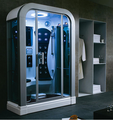 steam shower trend must have showers for a luxury bathroom. Black Bedroom Furniture Sets. Home Design Ideas